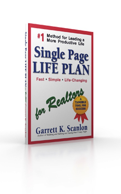 Single Page Life Plan  for Realtors Book Cover