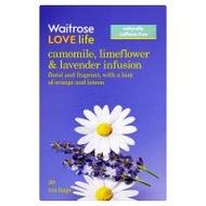 Camomile, limeflower & lavender infusion tea from Waitrose