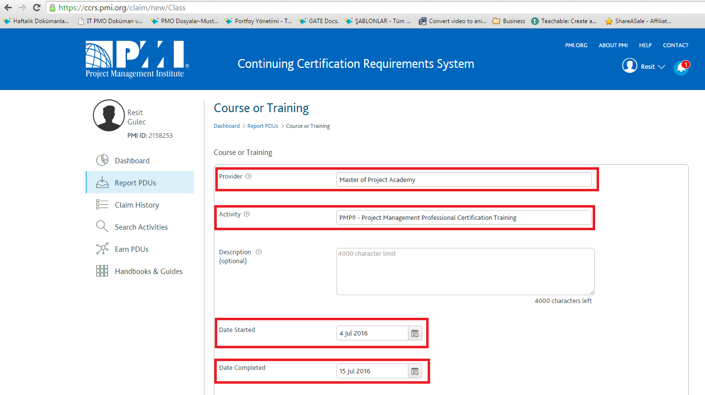 Pmi pdu submission master of project academy 4 at the bottom of the page you need to submit pdus you have earned with the training please type in pdus you earned from the course you have enrolled in 1betcityfo Images