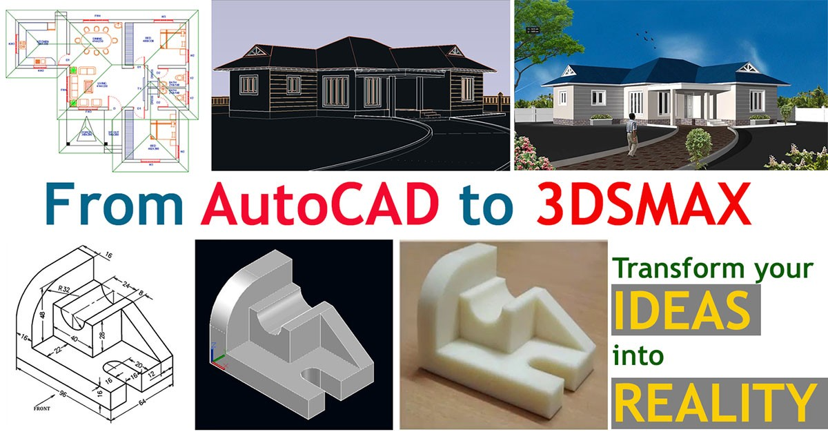 Learn AutoCAD 2D, 3D , 3DSMAX and Adobe Photoshop (All