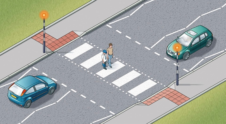 Rule 19- Zebra crossings have flashing beacons
