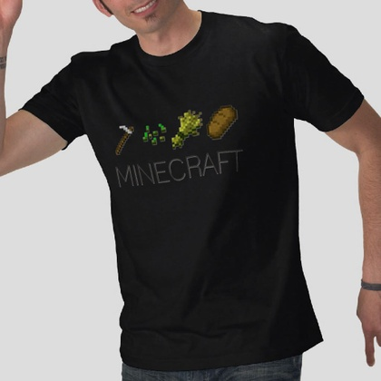 mineCraft video games black t-shirt Small to XL