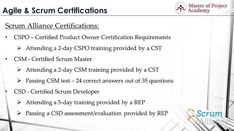 top 3 agile certification programs