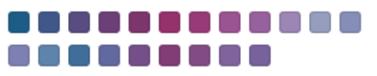 Gama de colores en la combinación de VeroMagenta, VeroPureWhite y VeroCyan