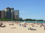 Have a beach similar to Chicago