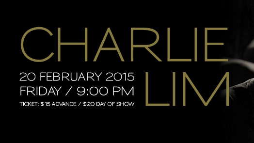 The SINGJAZZ Club presents CHARLIE LIM