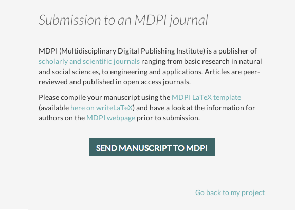 WriteLaTeX MDPI publish submission screenshot 3