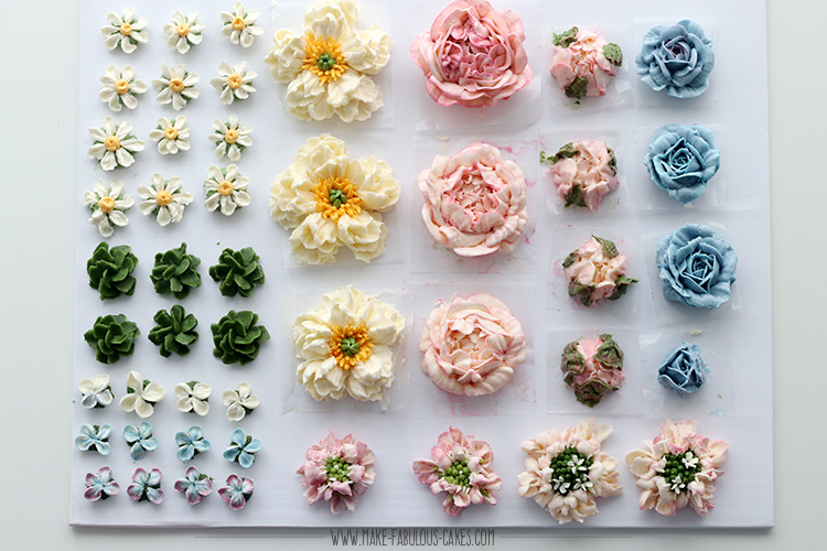 Woodland Buttercream Flowers