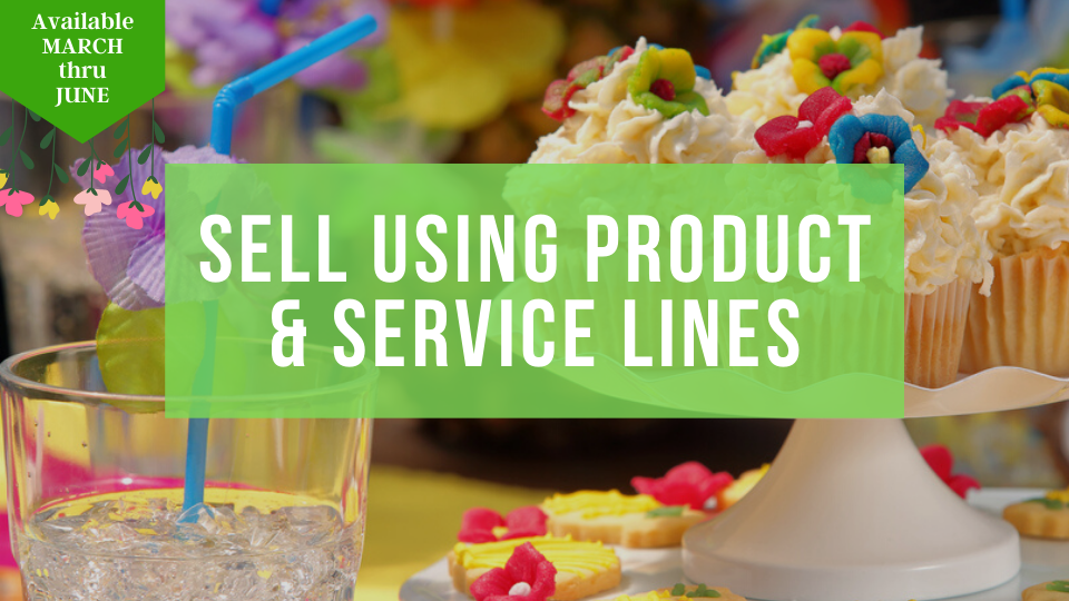 Learn how to increase your sales in your baking and sweets business by using product and service lines.