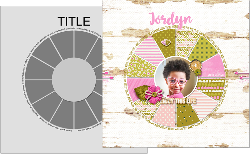 Easy As Pie Class Template. Page: Storyteller February 2019 kit (Just Jaimee)
