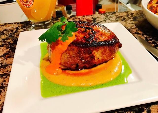 pork chops with yellow pepper mole sauce recipe pan roasted pork chops ...