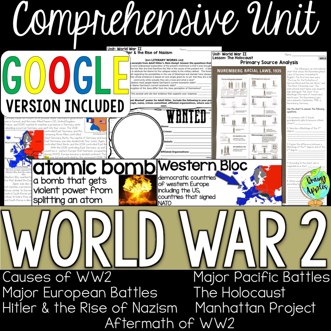 World War 2 Curriculum Unit | Brainy Apples