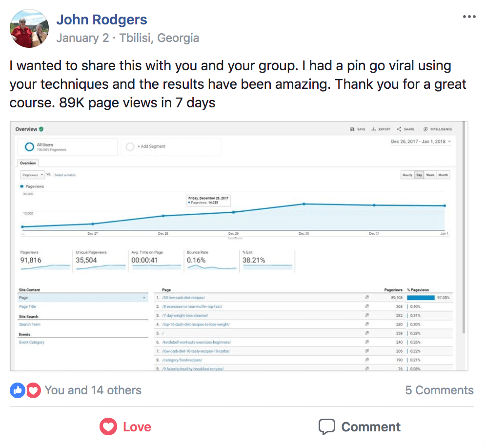 john rodgers pinterest traffic avalanche testimonial