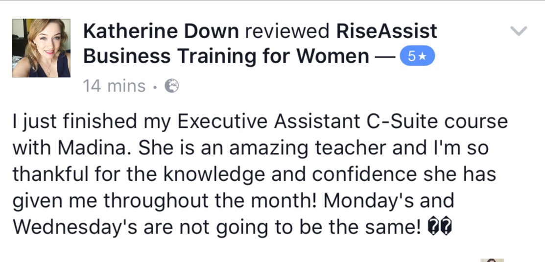 executive assistant training course