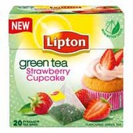 Green Tea Strawberry Cupcake from Lipton