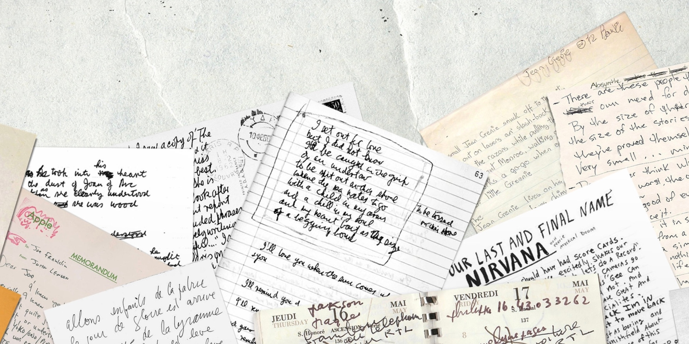 The handwriting of David Bowie, Kurt Cobain, Leonard Cohen and more have been turned into fonts