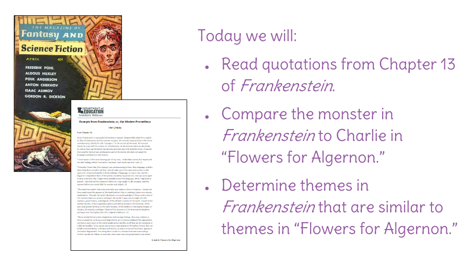 frankenstein comparative essay Frankenstein, the book, is meant to have connections to real life through its themesone way the author emphasis theme is through virtues and vices of the two important characters this essay will analyze the similarities and differences between two characters, victor frankenstein and monster, in terms of their virtues and vices the.