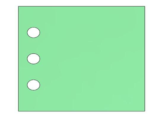 Operación de matriz aplicada a un modelo con SOLIDWORKS.