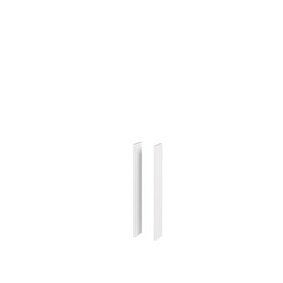 NewDay Sidepanel for speilskap, hvit matt