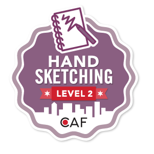 Badge for Hand Sketching - Level 2