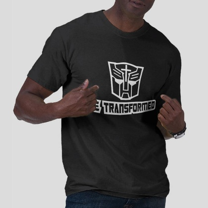 Be Transformed - transformer autobot black t-shirt