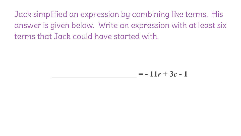 2 Combining Like Terms to Simplify Expressions FP – Adding Like Terms Worksheet