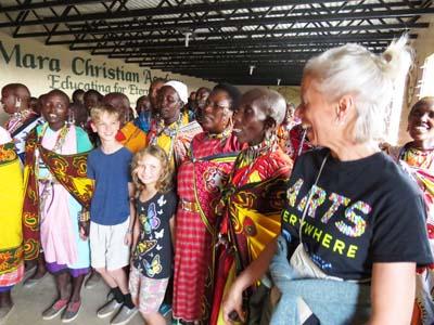 Maasai widows sing