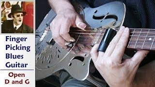 Open G and Open D Blues Guitar Tuning