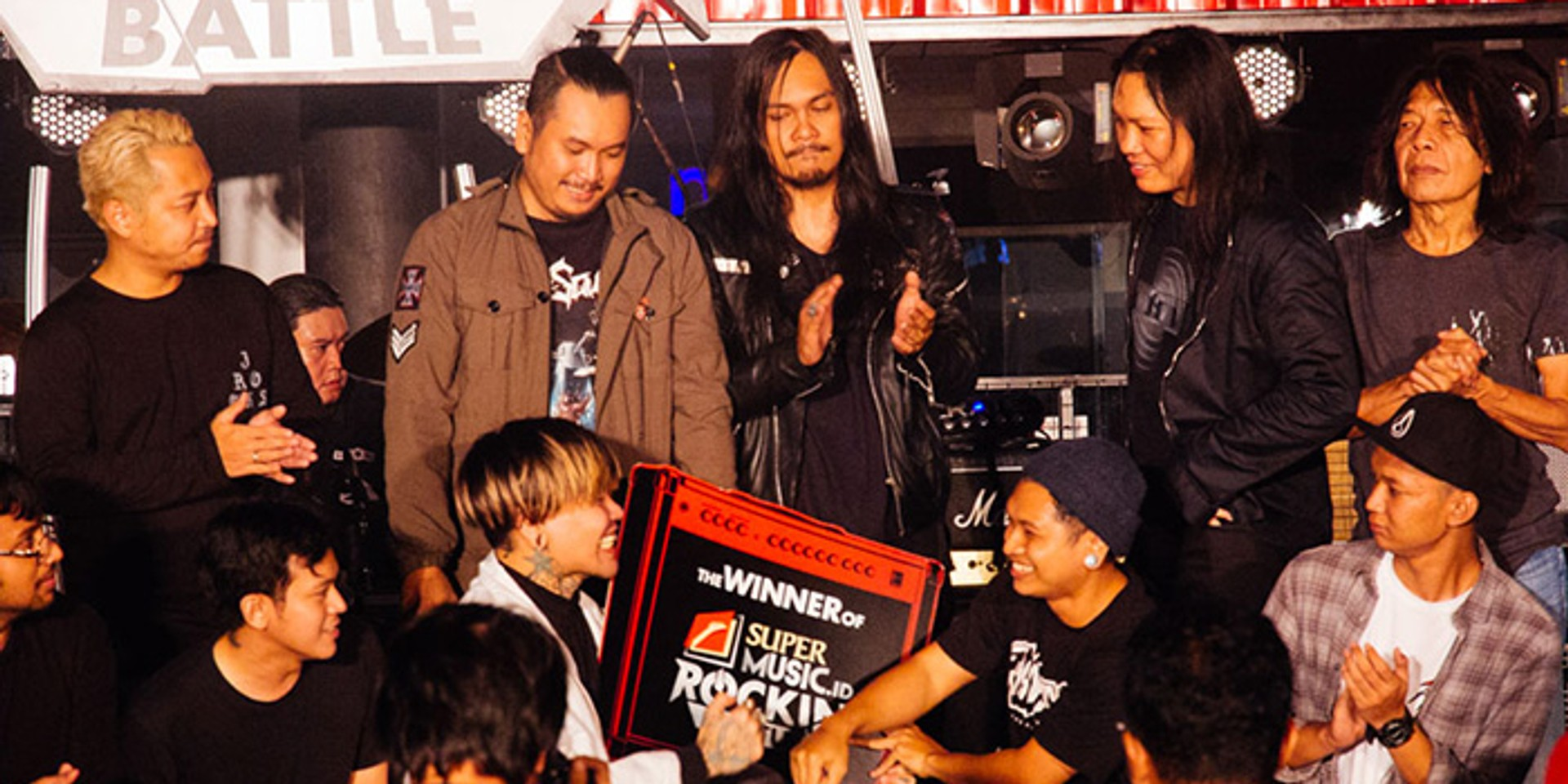 Jakarta-based indie pop act GHO$$ crowned as winner of the SuperMusic.ID Rockin Battle 2017