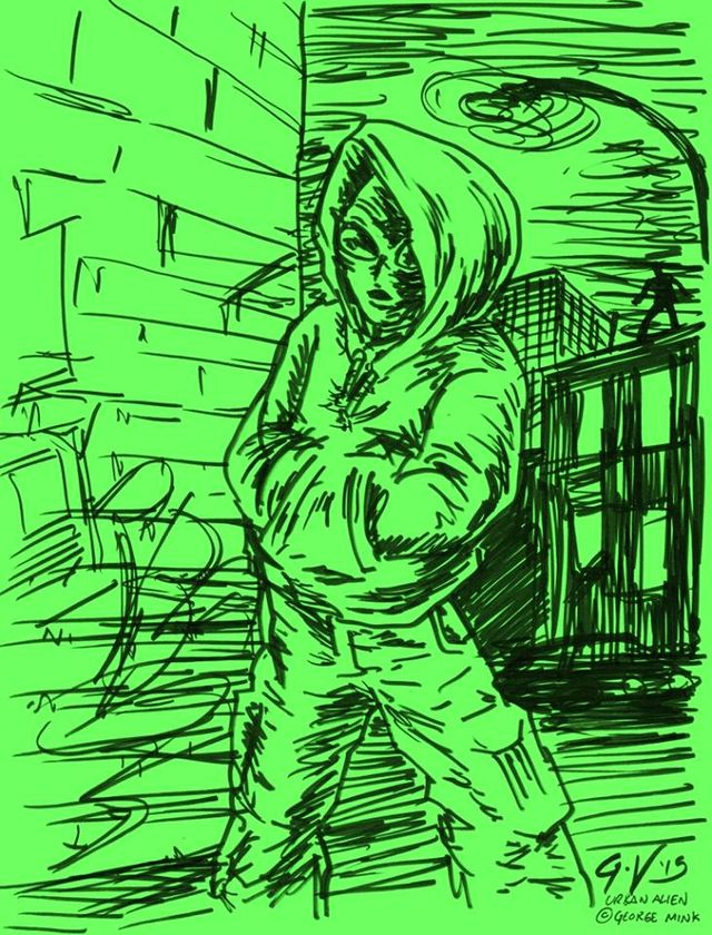 image: URBAN ALIEN FAN ART BY ALPHONSUS LANGAN, DONEGAL IRELAND. THANKS, ALFIE!
