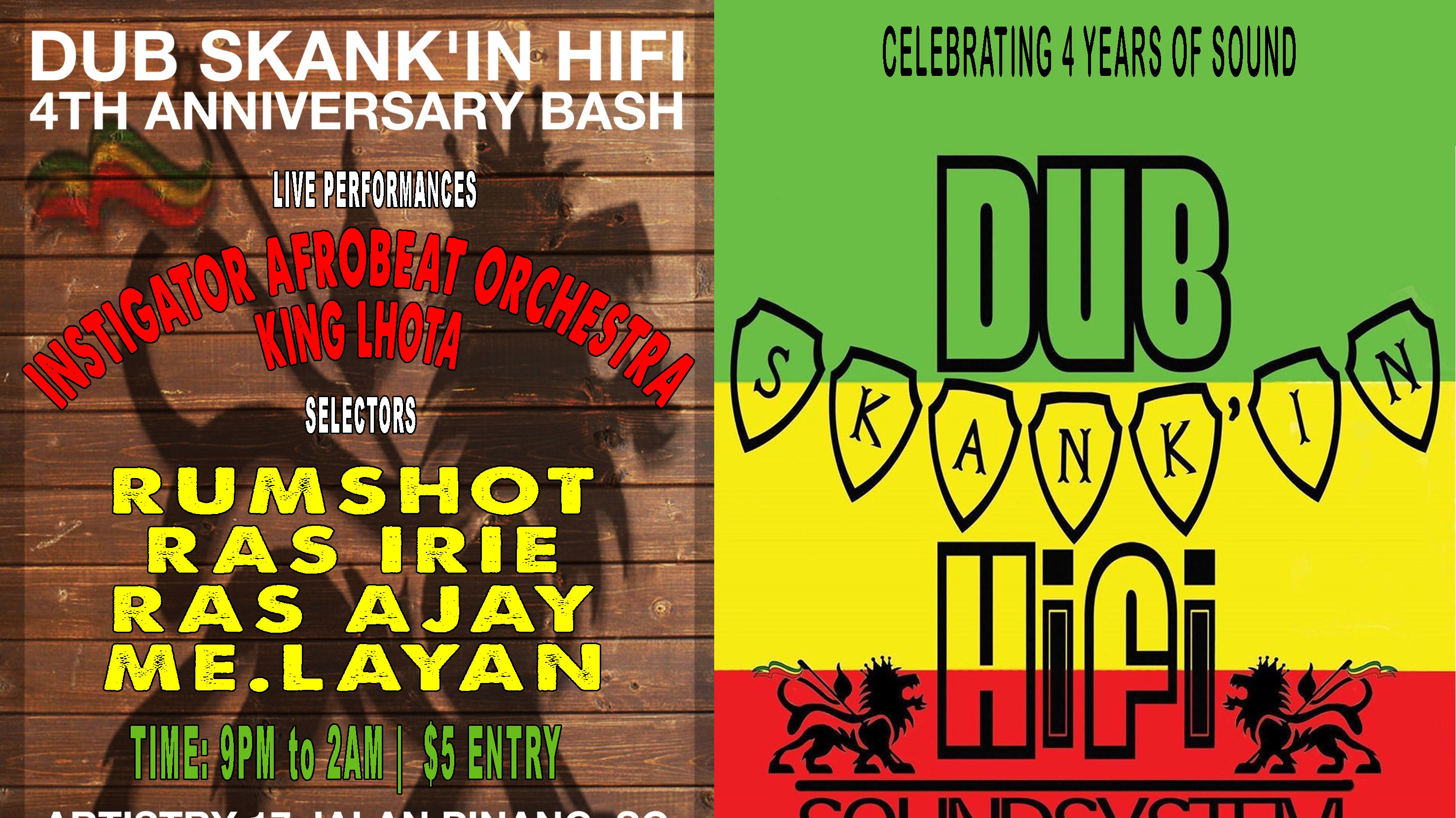 DUB SKANK'IN HIFI SOUNDSYSTEM 4TH ANNIVERSARY BASH