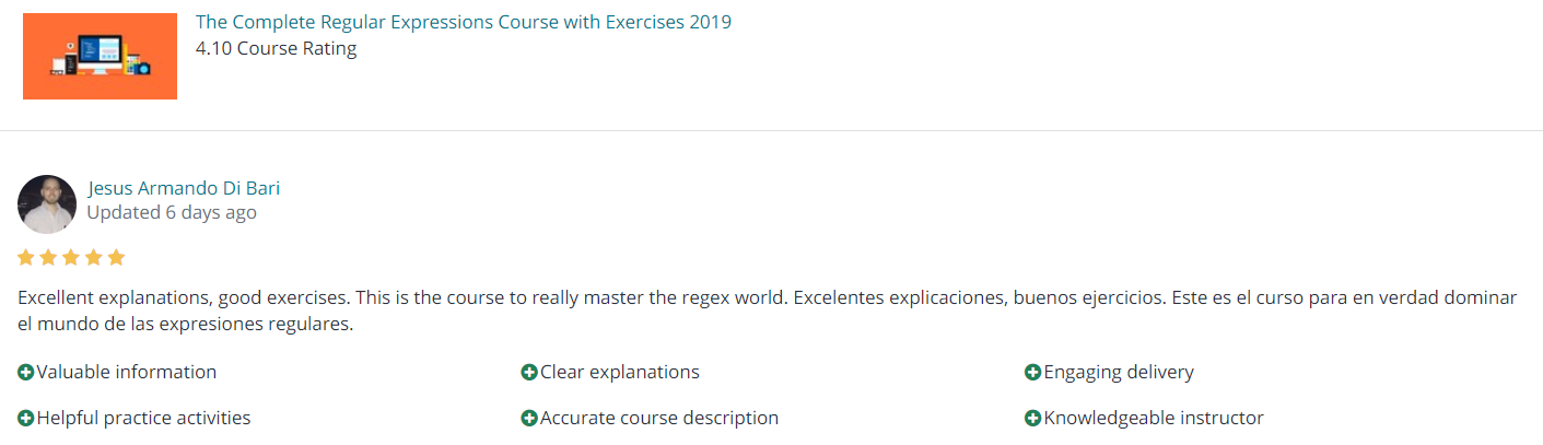 Regular Expression course