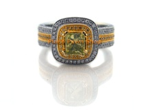 18K Yellow & White Gold & Diamond Ring Approx 2.5 Total Carats