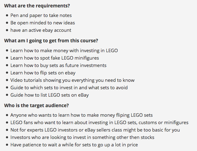 Lego Investing Guide How To Make Money Investing In Lego Course
