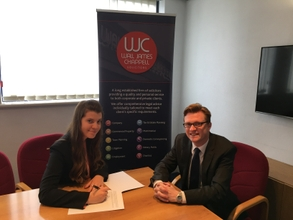 Kate Morris (Solicitor Apprentice) and Philip Chapman (WJC partner)