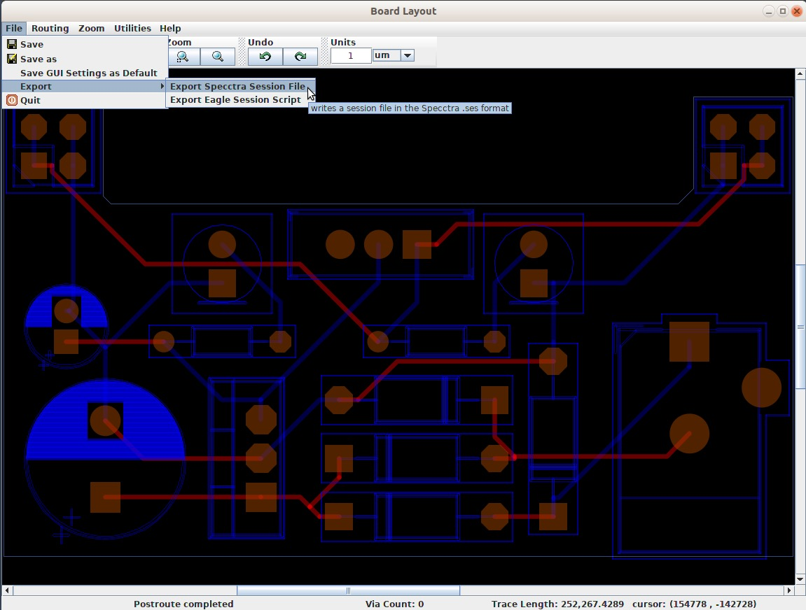Tech Explorations | Kicad 5 - How to use the freeRouting autorouter