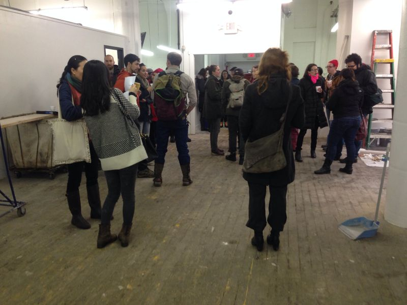 image: Over 30 artists showed up to inspect the location
