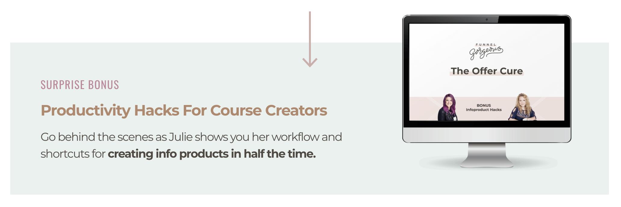 Surprise bonus: Productivity Hacks for Course Creators