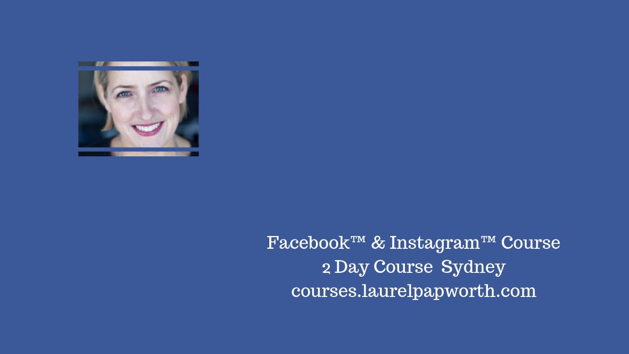 Facebook Course Sydney 2017