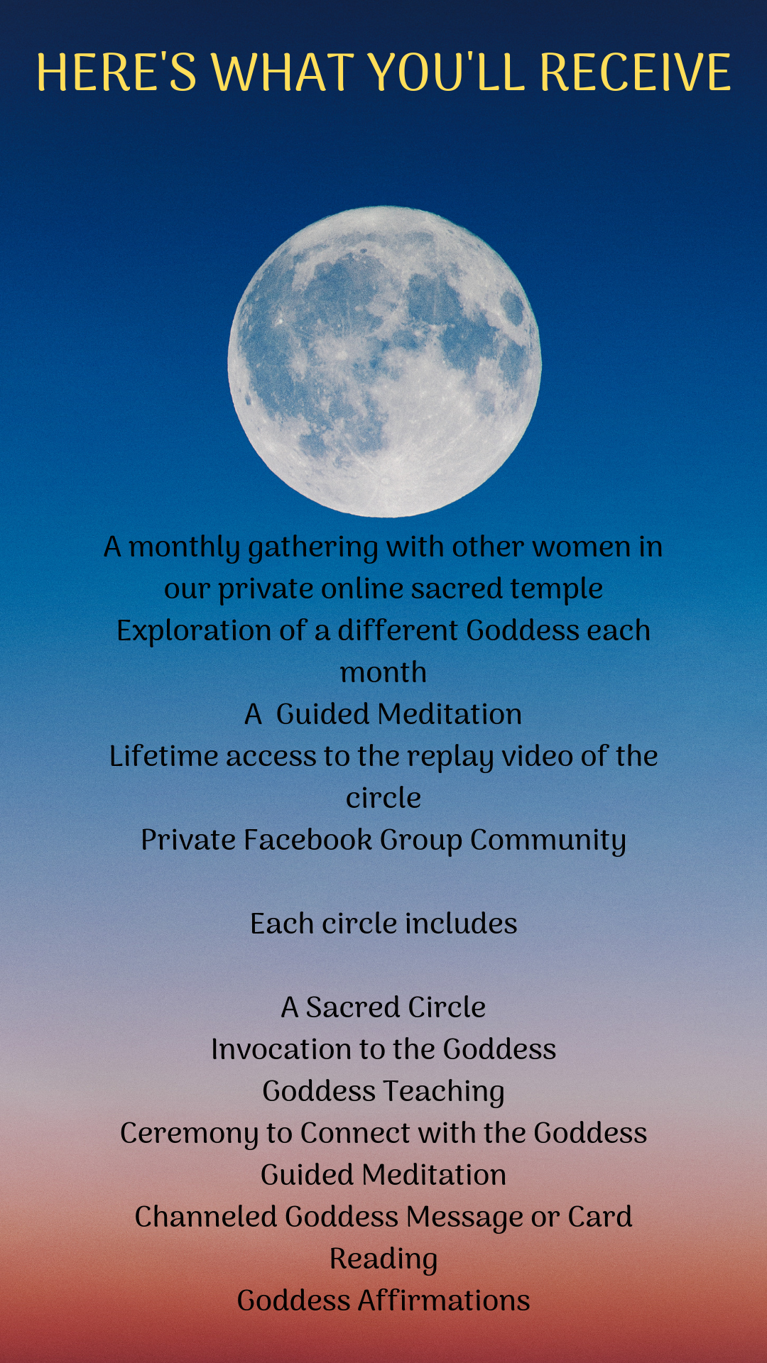 Full Moon Goddess Connection Circles | Dancing with the Goddess