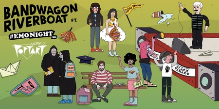 Bandwagon Riverboat goes back to school with EATMEPOPTART & EMONIGHTSG