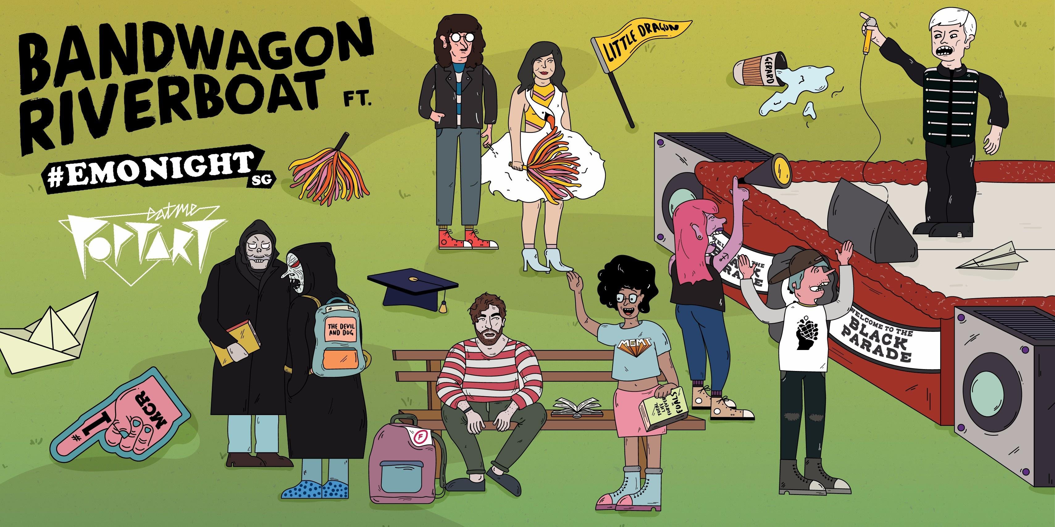 Bandwagon Riverboat goes back to school with EATMEPOPTART & EMONIGHTSG