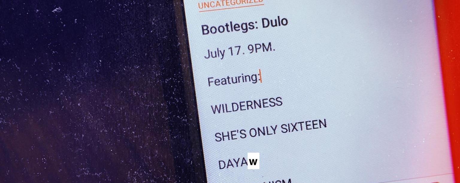 Bootlegs: DULO | Gig | Bandwagon - Live music, bands and