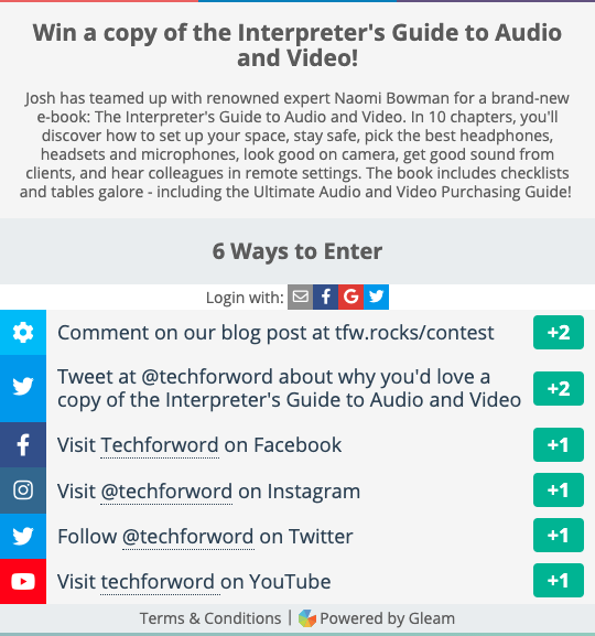 Link to contest to win The Interpreter's Guide to Audio and Video