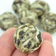 """Yue Guang Bai """"Moonlight White"""" White Tea Dragon Ball from Yunnan Sourcing"""