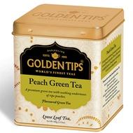 Peach Green Full Leaf Tea Tin Can By Golden Tips Tea from Golden Tips Tea