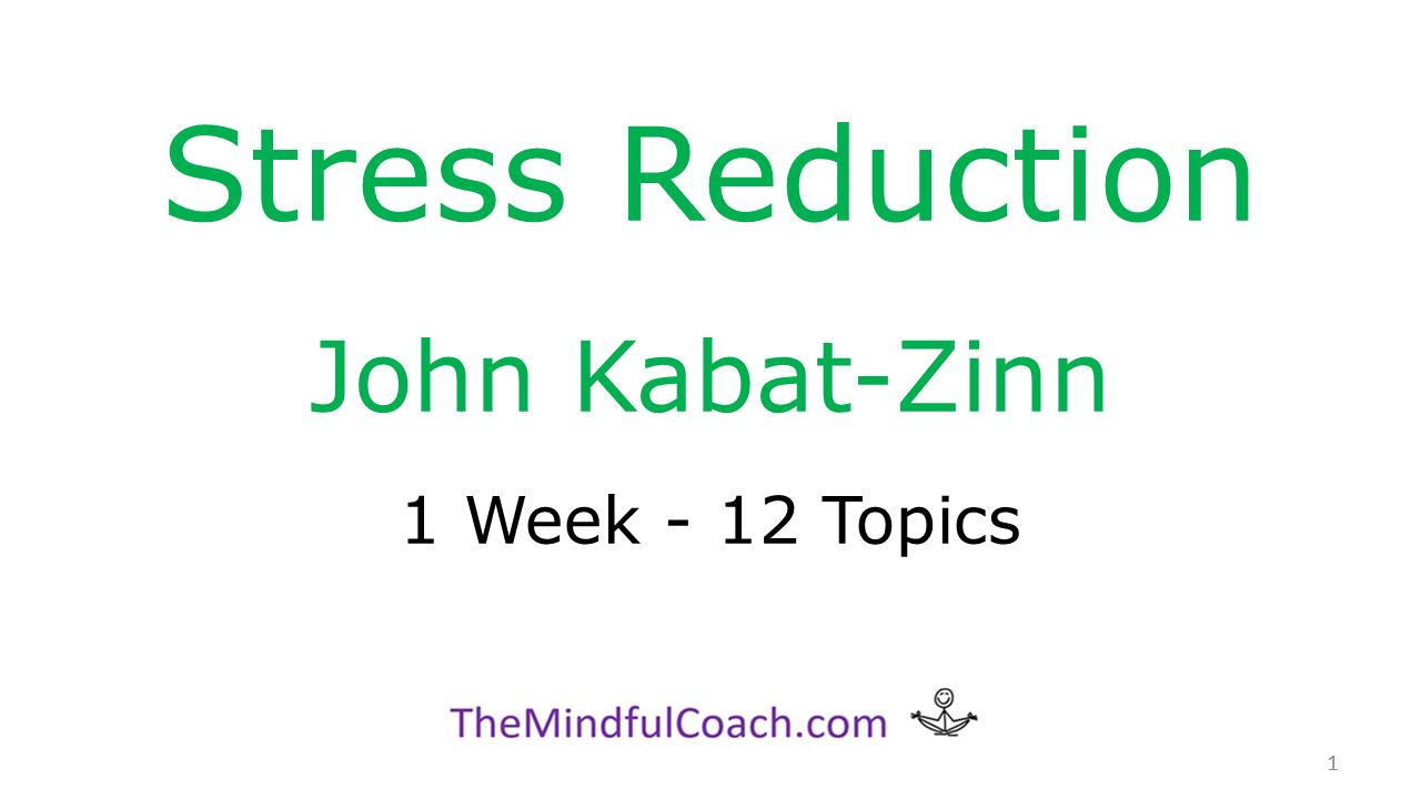 Mbsr 1 Week Free Mindfulness Training