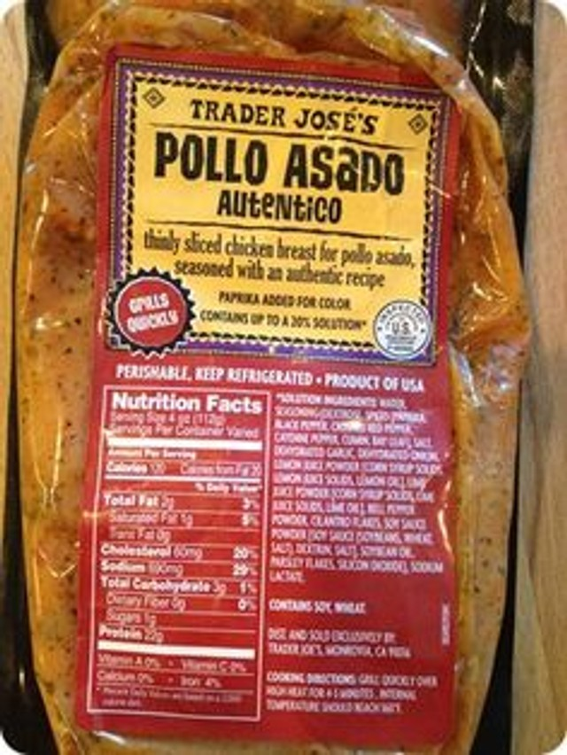 Pollo asado trader joe 39 s for Trader joe s fish oil