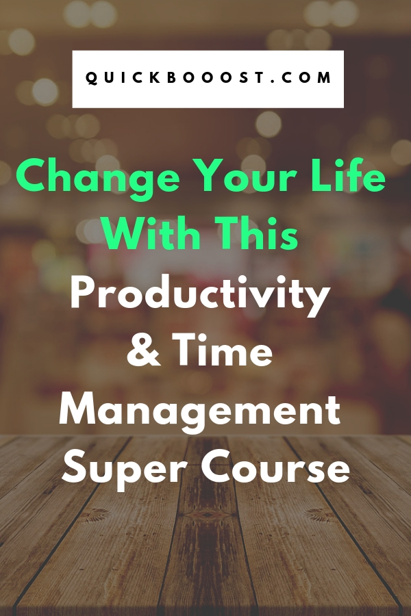 Boost your productivity and time management like never before with our Super Course! Use these time management tips and productivity hacks to create your ideal life.