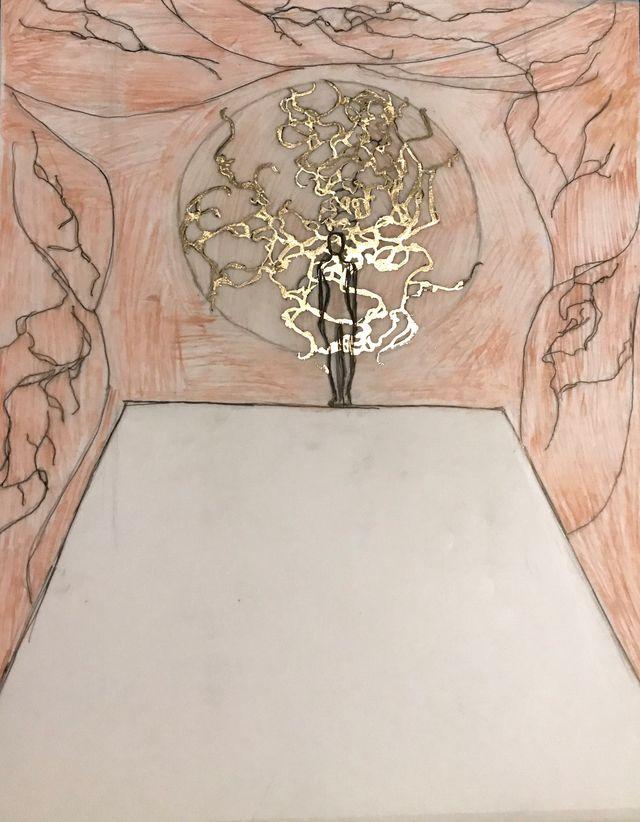 image: Quick sketch of art installation
